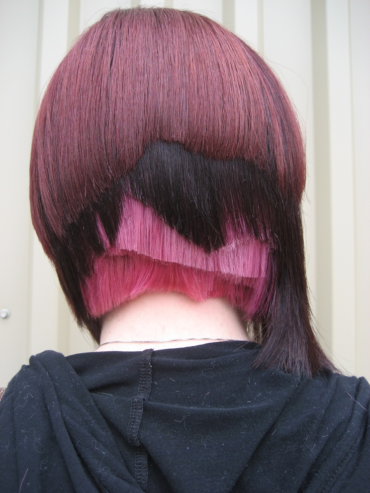 I like the idea of layering cut and color...could do in the front