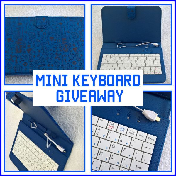 GIVEAWAY!  Today's giveaway is a MINI KEYBOARD.
