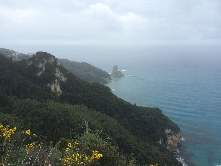 Mountain peak in Corfu, Greece. #Travel #Greece #Adventure
