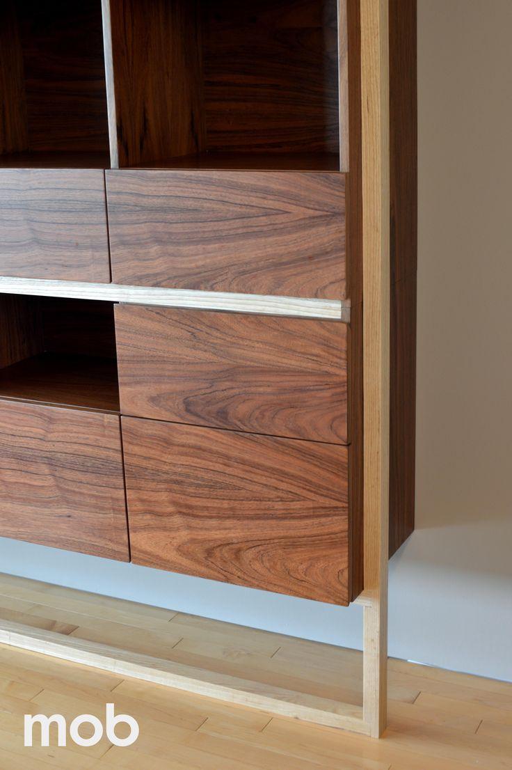 Cuerpo en madera tzalam y detalle de estructura en madera fresno #MOBproducción