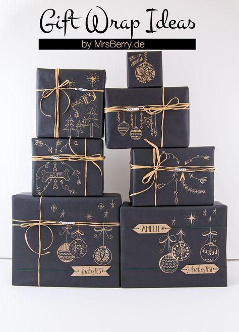 Geschenke schön verpacken mit Kraftpapier