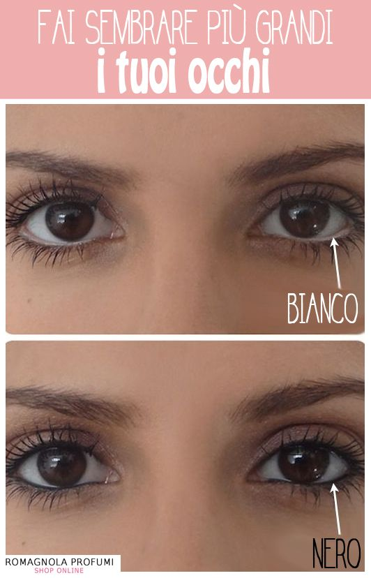 #Makeup #Occhi: il #trucco per farli sembrare più grandi #beautyhowto #beautytips #makeupocchi