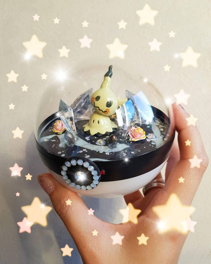 retrogamingblog:    Mimikyu Pokeball Terrarium made by mysweetcandies2 pokemon pokeball pokemon toys pokemon stuff