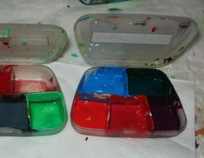 Pill box storeage for acrylic paints