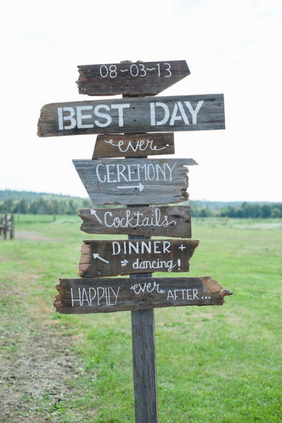 best day ever wedding sign