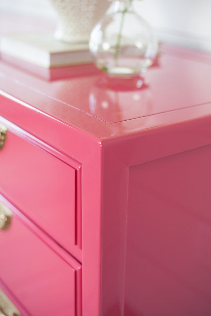How To Paint High Gloss Finish On Wood Furniture Lacquer Furniture Painted Bedroom Furniture Pink Furniture