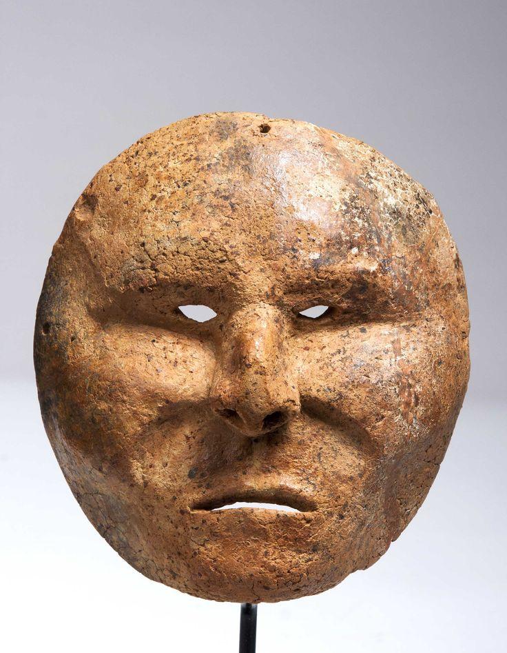 A Calima burial mask, 200 BC - 400 AD