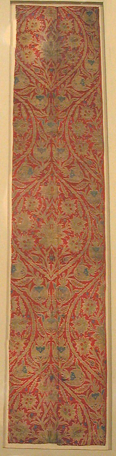 Brocade, 16th century, Turkey, Bursa, Silk and metal thread