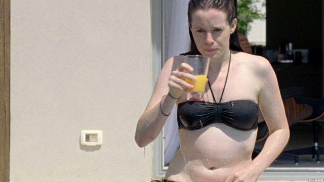 hot naked girl swimming