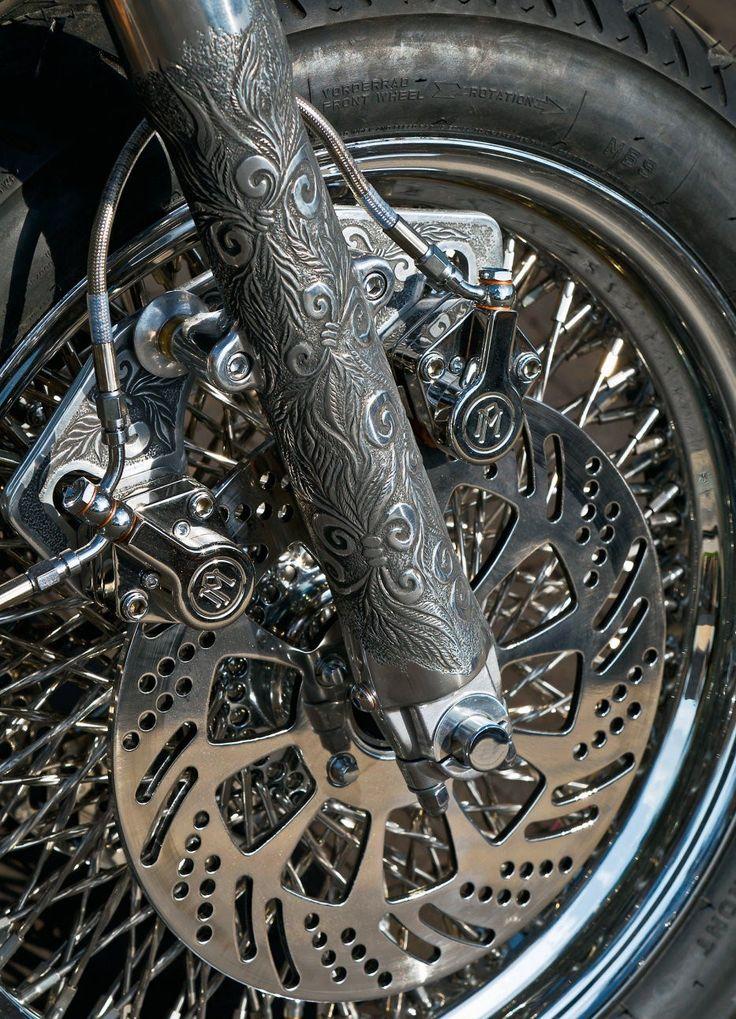 Cool Stuff We Like Here @ CoolPile.com ------- << Original Comment >> ------- custom engraved fork #motorcycle #motorbike