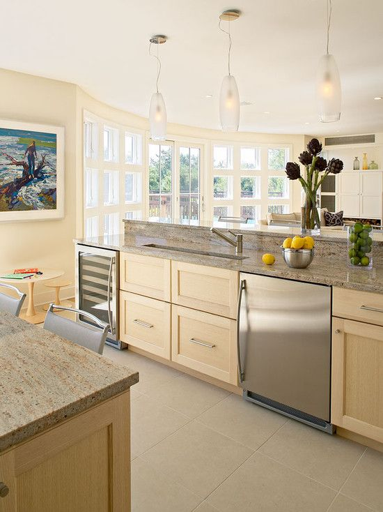 Kitchen Natural Maple Wood Cabinetry Design, Pictures, Remodel, Decor and Ideas - page 2