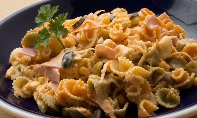 Receta de Ensaladilla de pasta y jamón