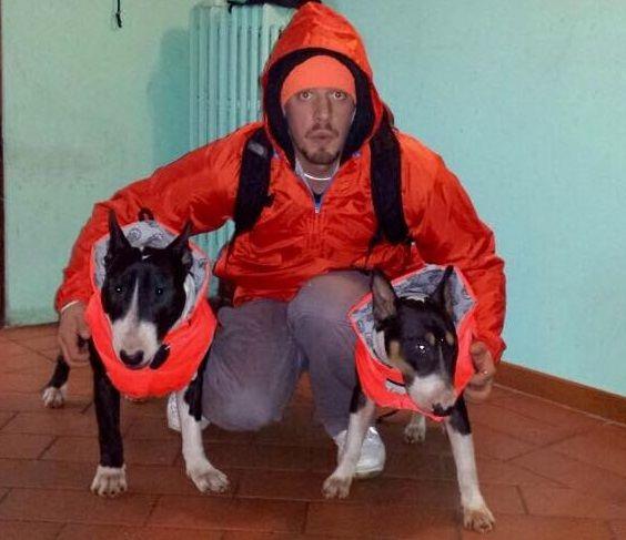 Orange Fluo Family! Bibi&Bacco with Andrea.