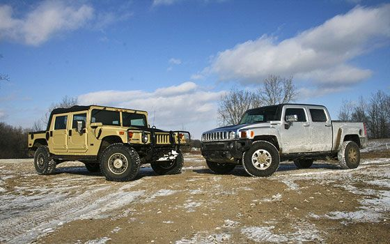 Hummer H1 and H3T