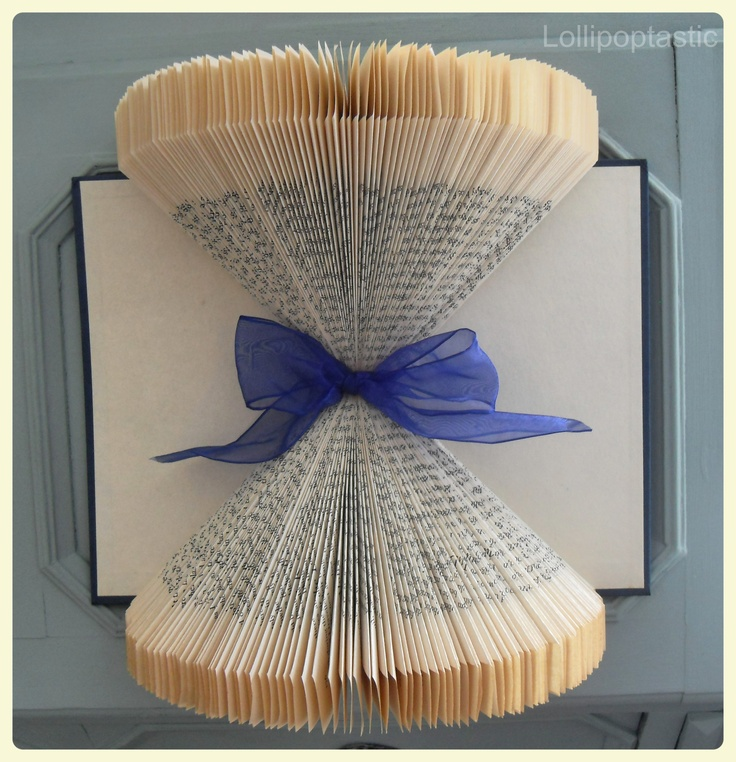 Hand-folded book art.