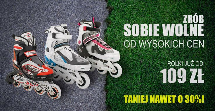Rolki regulowane Vivo  teraz dostępne w wiosennej promocji z rabatem 30%  Serdecznie zapraszamy!  http://www.sporti.pl/pol_m_SKATING-I-ROLKI_Rolki-3312.html