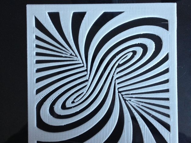 A modified version of the twirl illusion in STL file format.