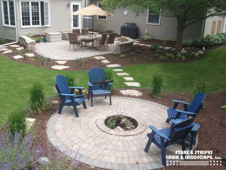 Love The Circle Patio With Fire Pit