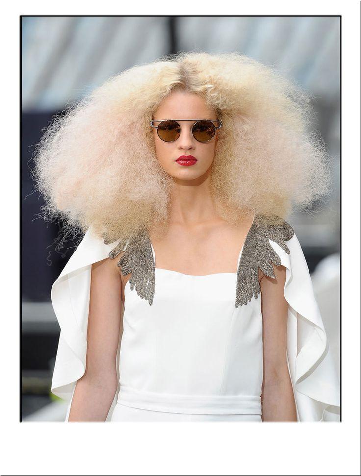 Blonde Afro Chic Fashion Wig #Catwalk #Hair #Trend