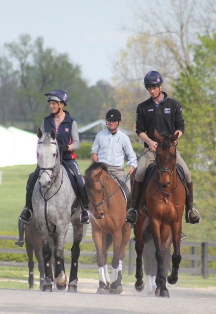 Awesome! Three past winners of the Rolex Kentucky CCI**** Mary King (on Fernhill Urco) Phillip Dutton (on Fernhill Eagle) and William Fox-Pitt on Seacookie