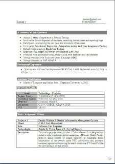 Updated Resume Format Free Download Standard Resume Format