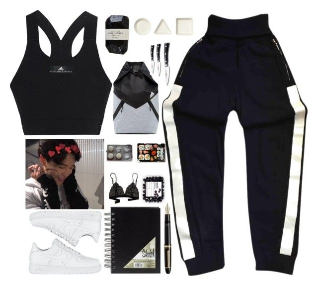 """""""«LAZY DAY, MOVIE WATCHING WITH JIMIN»"""" by parkeunseo on Polyvore featuring Chanel, iittala, Cassia, adidas, Wüsthof, Jura, Madewell, NIKE and Fountain"""