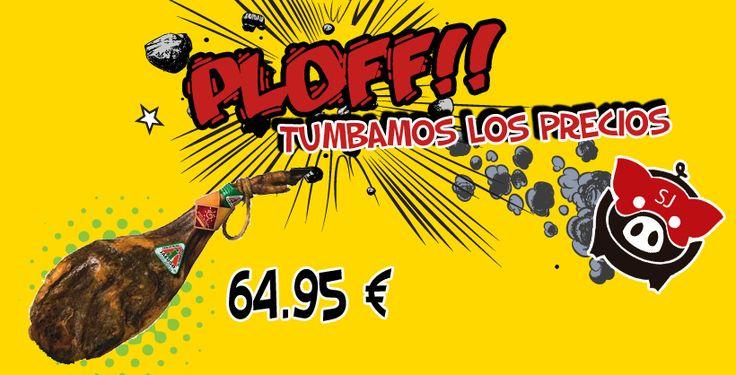 Super Jamón está decido a tumbar los precios como en esta paleta!!!  http://superjamon.es/paleta-iberica-de-cebo-artesanos-de-jabugo-45-kg-p-277