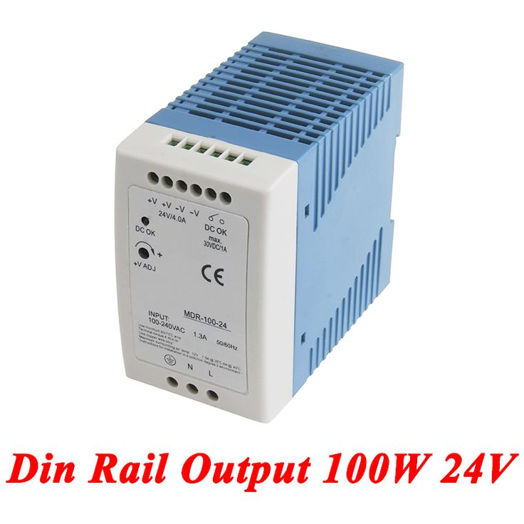MDR-100 Din Rail Power Supply 100W 24V 4.2A,Switching Power Supply AC 110v/220v Transformer To DC 24v,ac dc converter. Yesterday's price: US $20.30 (16.70 EUR). Today's price: US $16.85 (13.93 EUR). Discount: 17%.