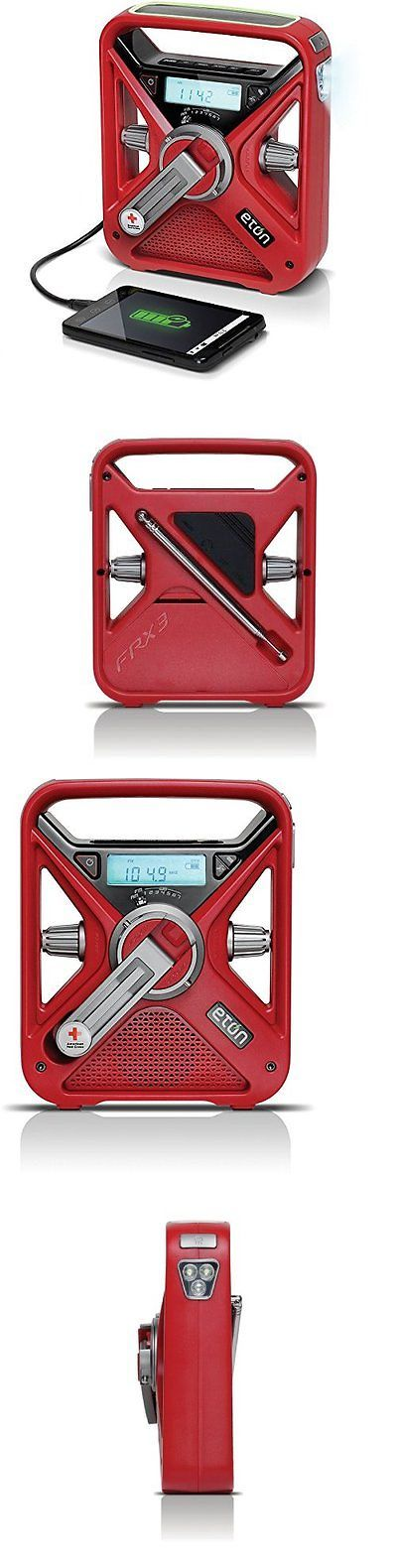 Portable AM FM Radios: American Red Cross Frx3 Hand Crank Noaa Am/Fm Weather Alert Radio With Charger BUY IT NOW ONLY: $64.21