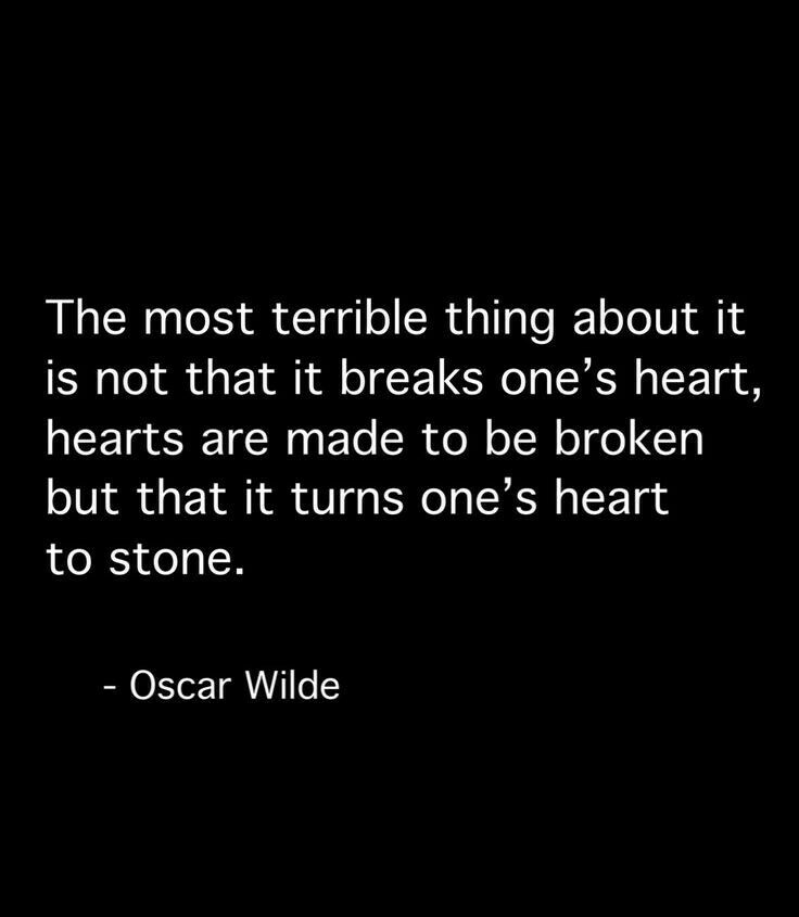 Heartbreak quote Stone heart