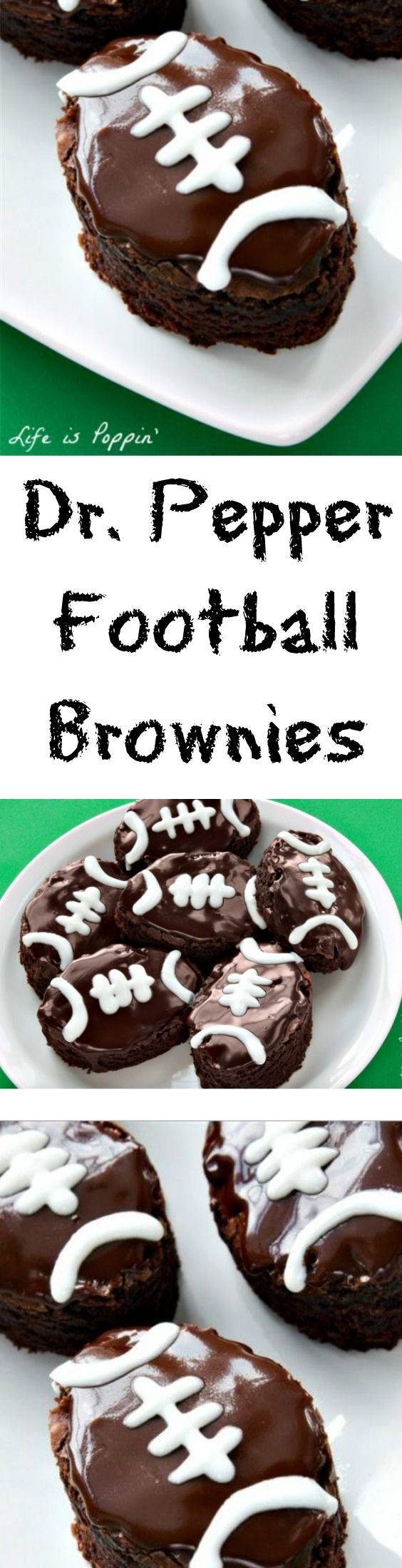Football season is upon us and cheering for your favorite team is more than just a pastime for you and your family. It's a time-honored tradition. Be sure to make these Dr. Pepper football brownies for the next big game!