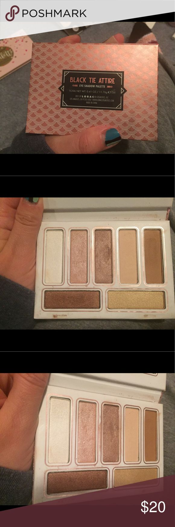 Black Tie Attire Lorac Eyeshadow Palette Lorac palette used about 14 times. Only used a few colors, see use in pictures. Was limited edition Christmas palette from 2016. Lorac Makeup Eyeshadow