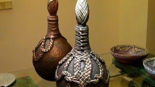 como hacer decorar botellas de vidrio - YouTube