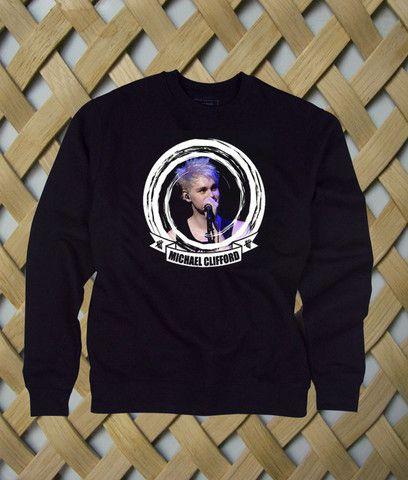 Michael Clifford 5 Sos Album Cover sweatshirt #sweatshirt #sweat #shirt #clothing #cloth #crewneck #sweater #sweaters