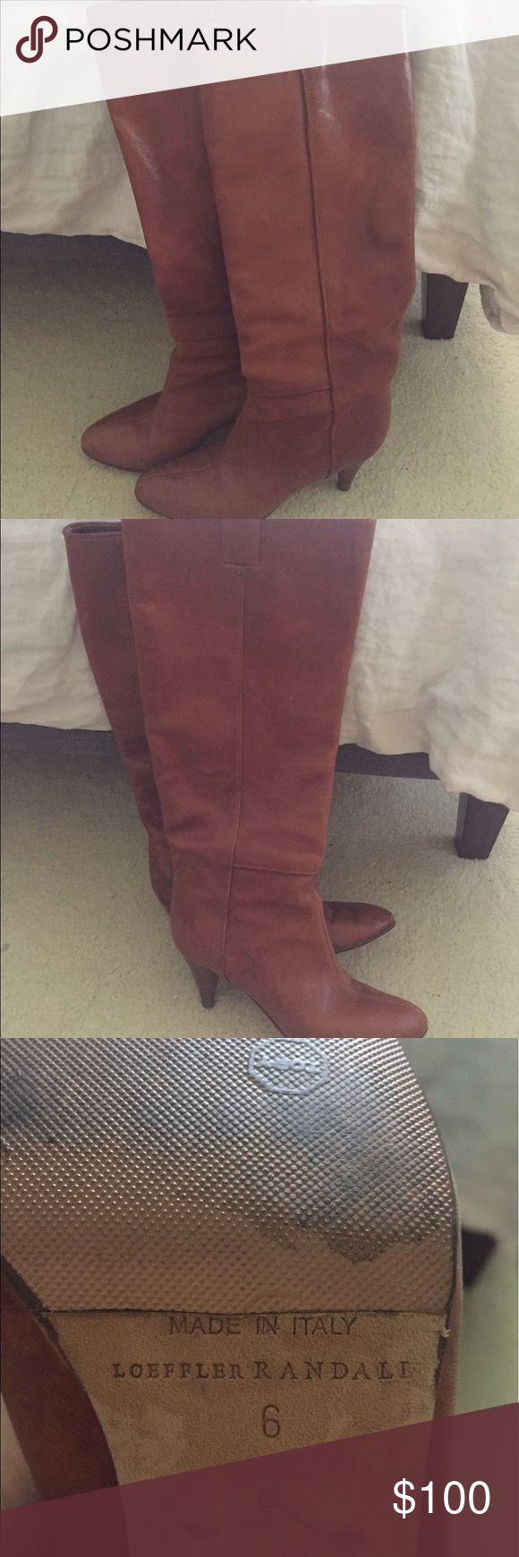 Loeffler Randall cognac boots size 6 Loefffler Randall cognac boots size 6 Loeffler Randall Shoes Heeled Boots