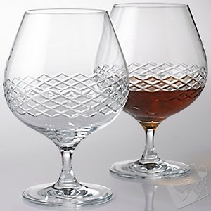 Brandy Glasses with Diamond Band (Set of 2) at Wine Enthusiast - $49.95