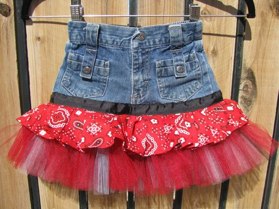"""upcycle!  Turn those too small jeans into a cute skirt - perfect for my baby girl's """"girlier"""" days! :)"""