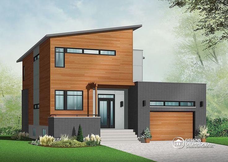 Plan de maison contemporaine - Constructeur Mètre Carré Plan