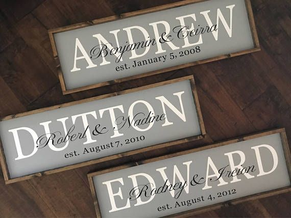Couple Established Date Sign | Wedding Anniversary Gift | Wedding Sign | Family Name Sign | Wood Sign | Farmhouse Sign | Farmhouse Style #lastname #lastnamesign #personalized #rustic #farmhouse #homedecor #giftideas #personalizedssigns #family #affiliate
