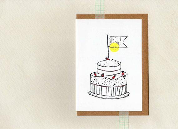 SING it BITES . birthday card . au wandarrah by ThePaisleyFive