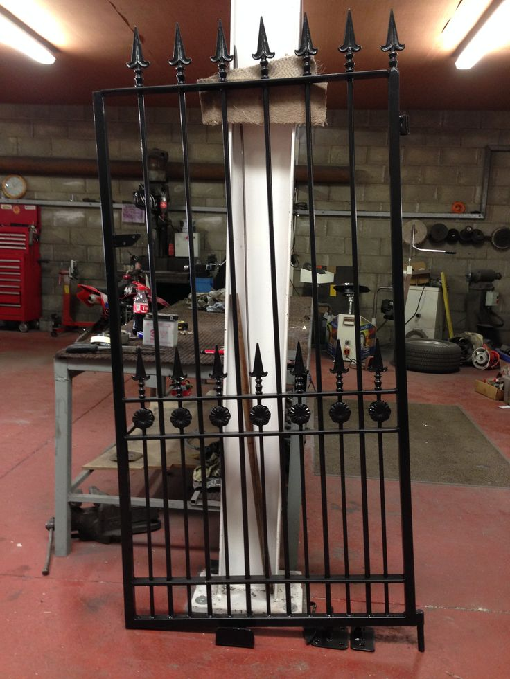 1.7 X 0.9 single gate done in satin black by donegalpowdercoating company