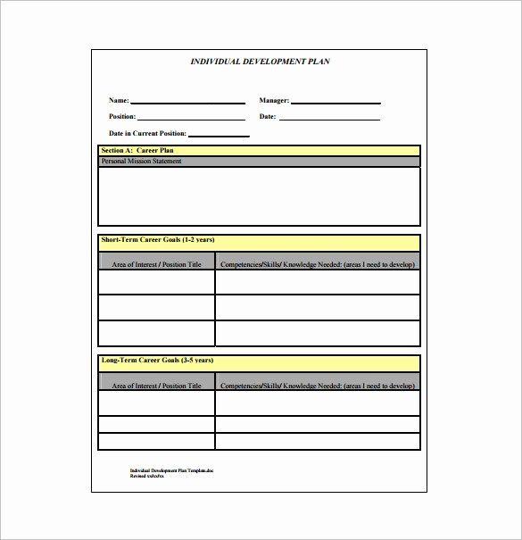 40 Individual Development Plan Template Career Development Plan
