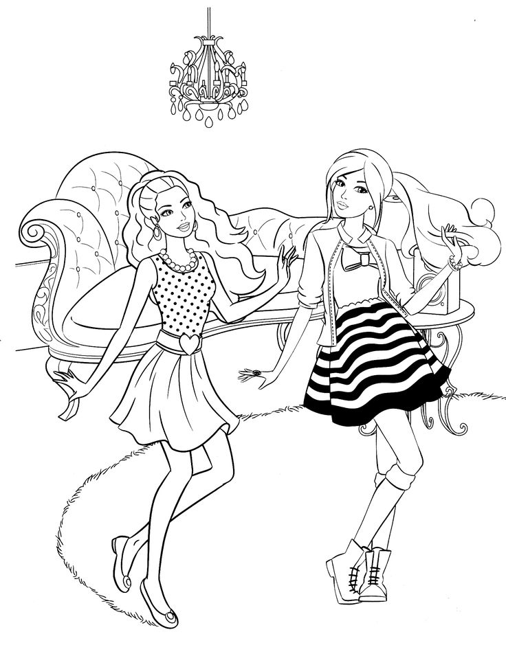 333 best barbie colouring page images on pinterest | barbie ... - Barbie Friends Coloring Pages