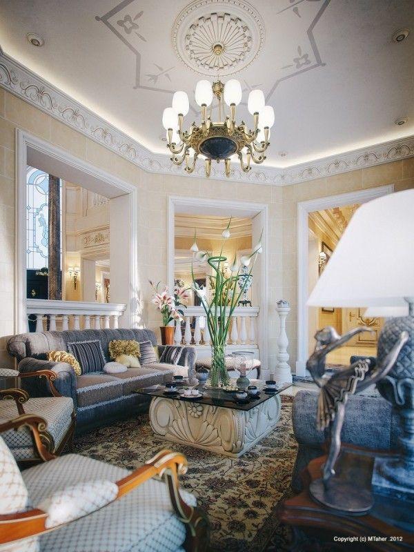 Foyer Architecture Qatar : Opulent breathtaking villa in qatar visualized by