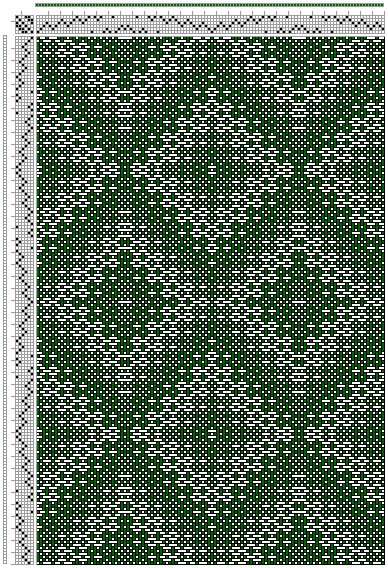 Hand Weaving Draft: kw021, Crackle Design Project, Ralph Griswold, 6S, 6T - Handweaving.net Hand Weaving and Draft Archive