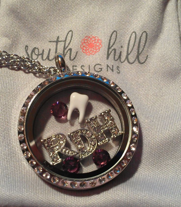 Registered Dental Hygienist Locket by South Hill Designs  www.facebook.com/southhilldesignswithsarah