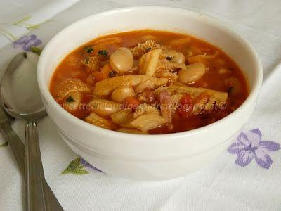 Le    ricette    di    Claudia  &   Andre : Zuppa di trippa con pancetta, fagioli di Spagna e ...