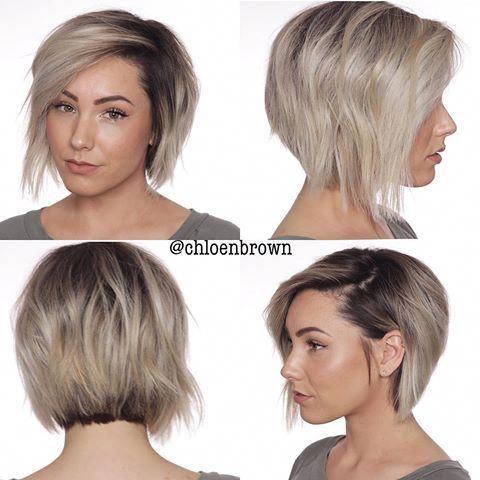 Chloé Brown ♡ Short Hair (@chloenbrown) • Instagram photos and videos #angledbob