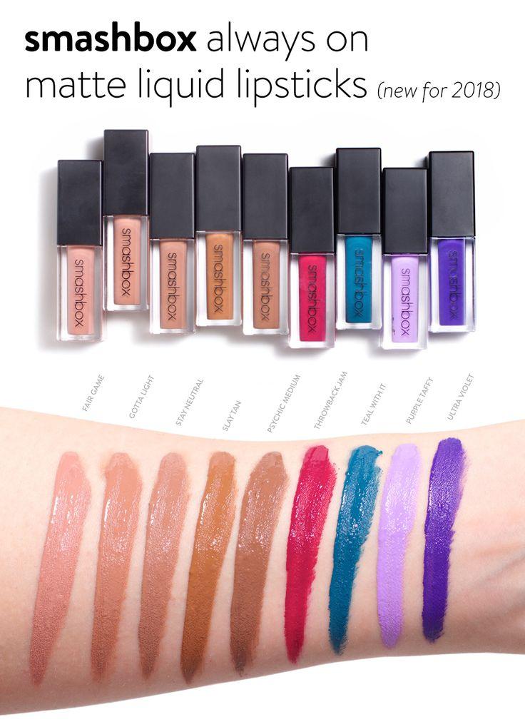 Smashbox Always On Matte Liquid Lipstick Swatches: 2719 Best Beautezine Images On Pinterest