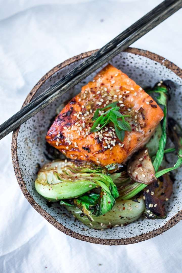 Put an exotic twist on your salmon tonight, with a delicious Teriyaki marinade and fresh green baby ... - Feasting At Home